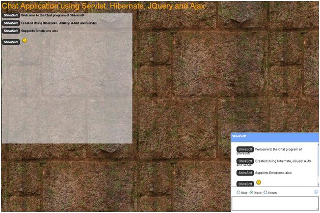 Servlet, Hibernate, jQuery and Ajax based google like chat
