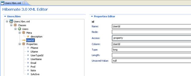 Hibernate 3.0 XML Editor