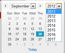 Year Range in Salesforce Date Picker