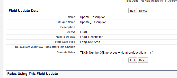 Salesforce Workflow rule - field update on Lead