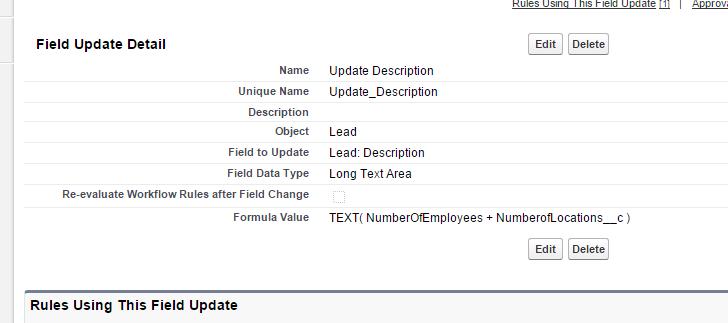 Salesforce Workflow rule - field update on Lead
