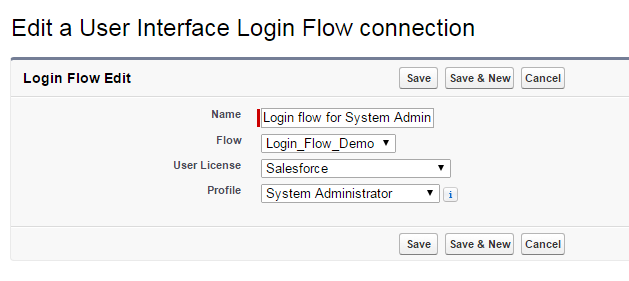 Salesforce Login Flow Connection