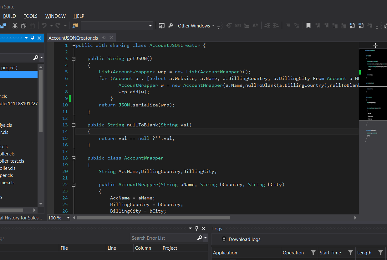 Salesforce Welkin Suite IDE