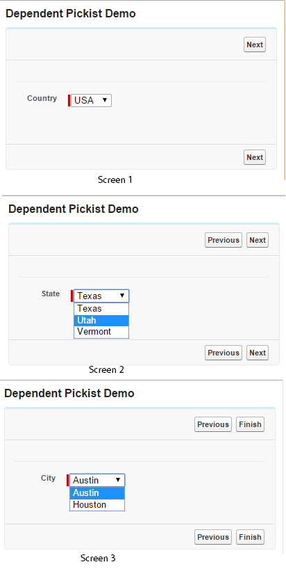 Salesforce flow - Dependent picklist output