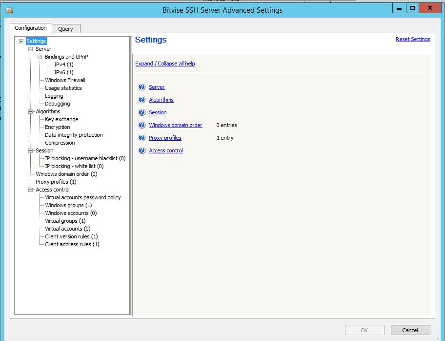 Bitwise SSH Server Advance setting