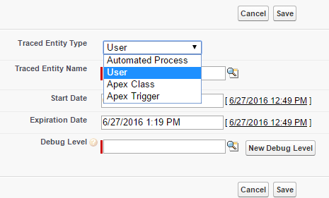 Salesforce Summer 16 new Debug logs