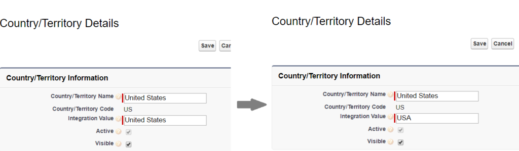State & Country Picklist in Salesforce