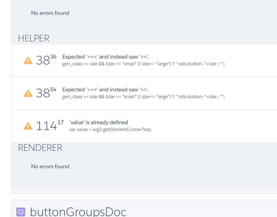 Salesforce Lightning Component - Code review - Javascript lint