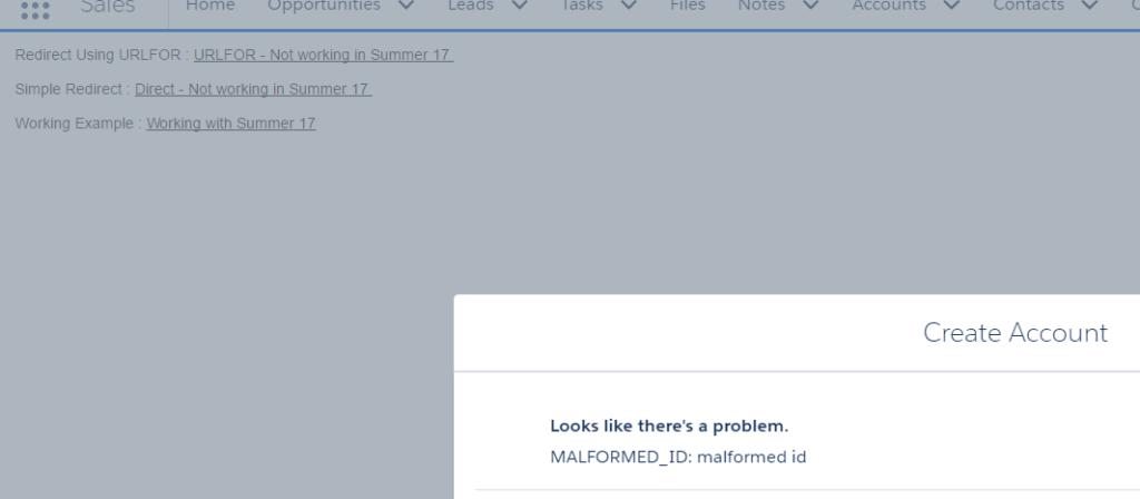 Salesforce Summer 17 - URLFOR Not working