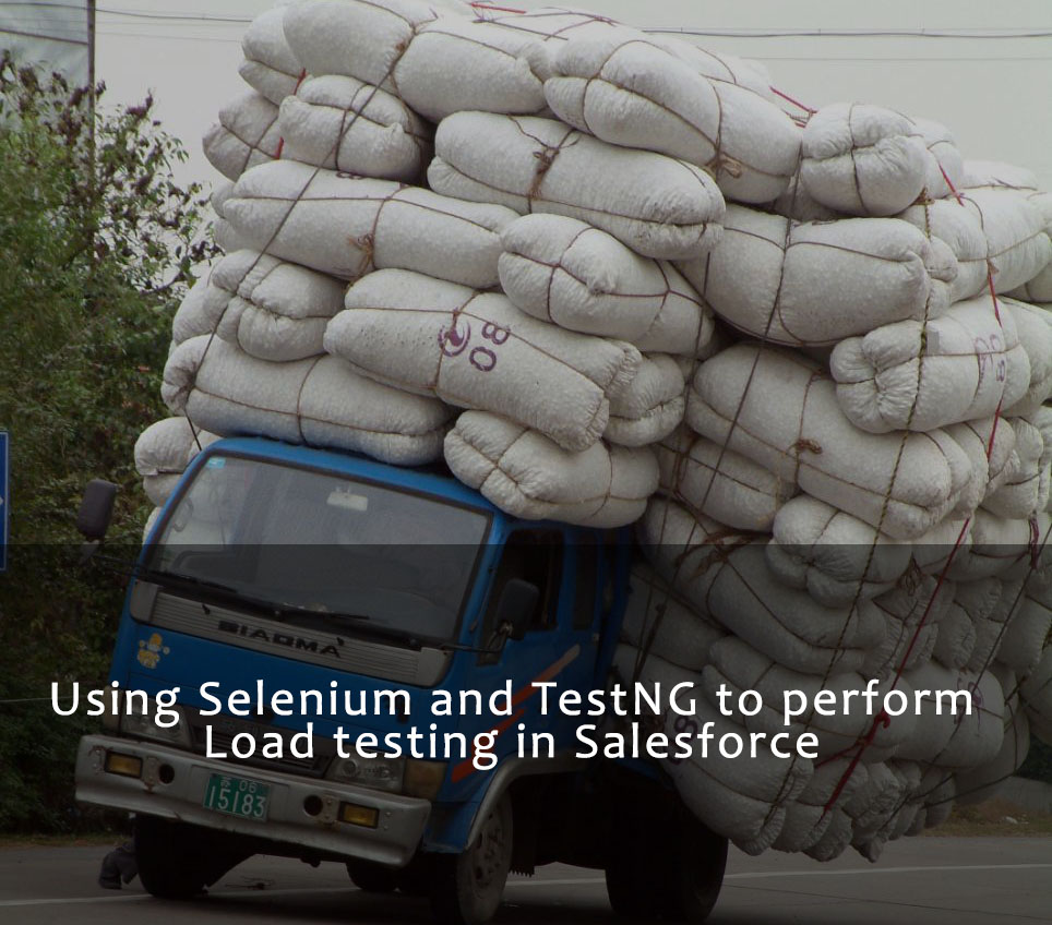 Selenium Salesforce load Testing