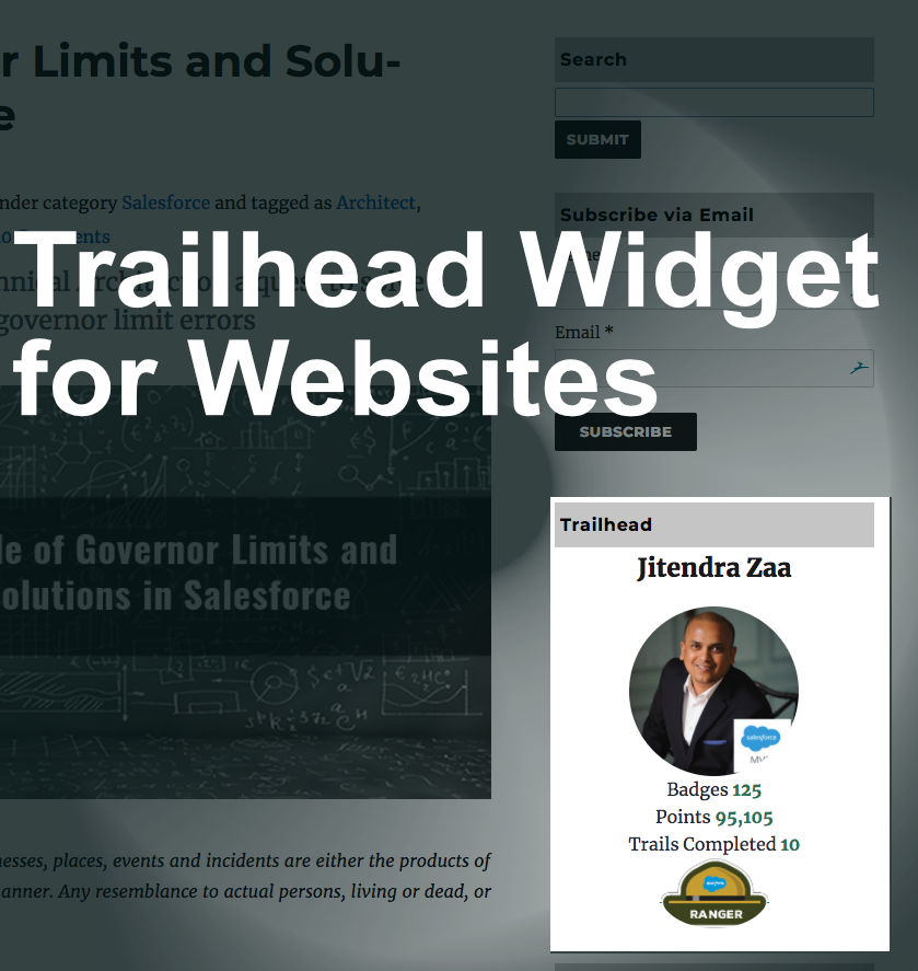 Trailhead Widget for your Website