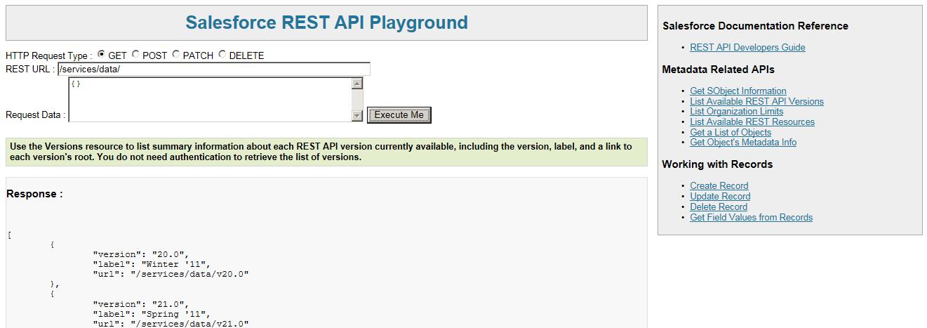 Salesforce REST API Playground – Jitendra Zaa's Blog
