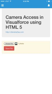 Visualforce Camera Access - Recently clicked image selected