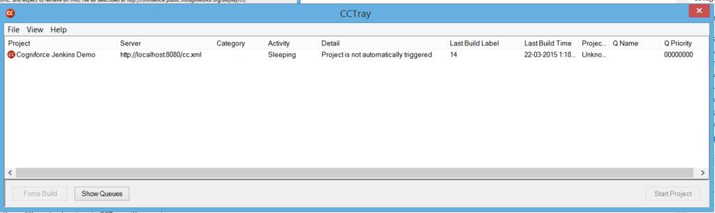 CCTray Dashboard