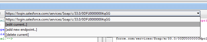 Edit Endpoint URL of soapUI to query Salesforce record