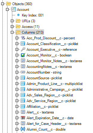 Salesforce IDE - Brain Engine - Object Explorer