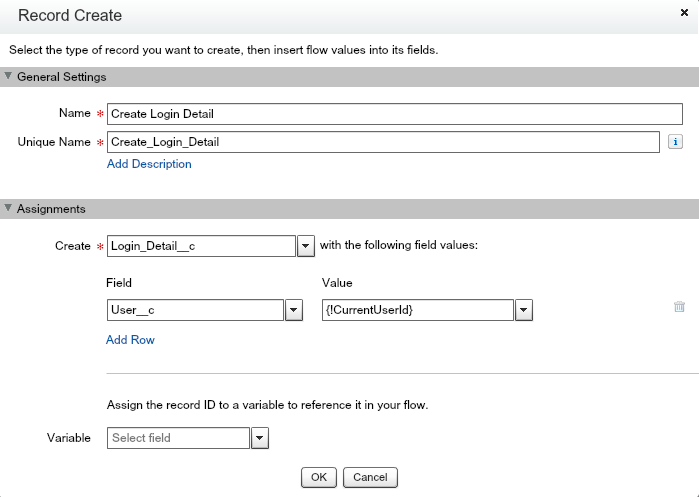 Salesforce Visual Flow - Record create component
