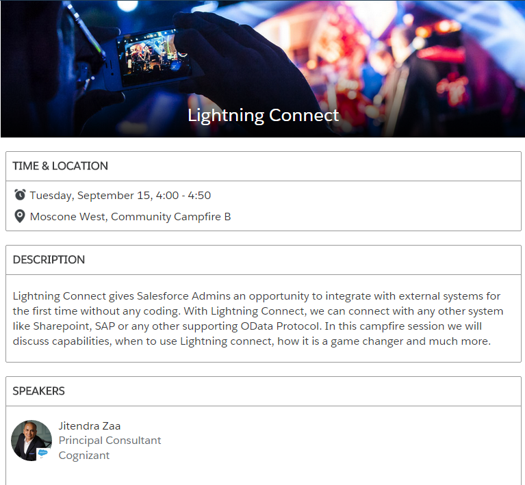 Lightning Connect Campfire Dreamforce2015