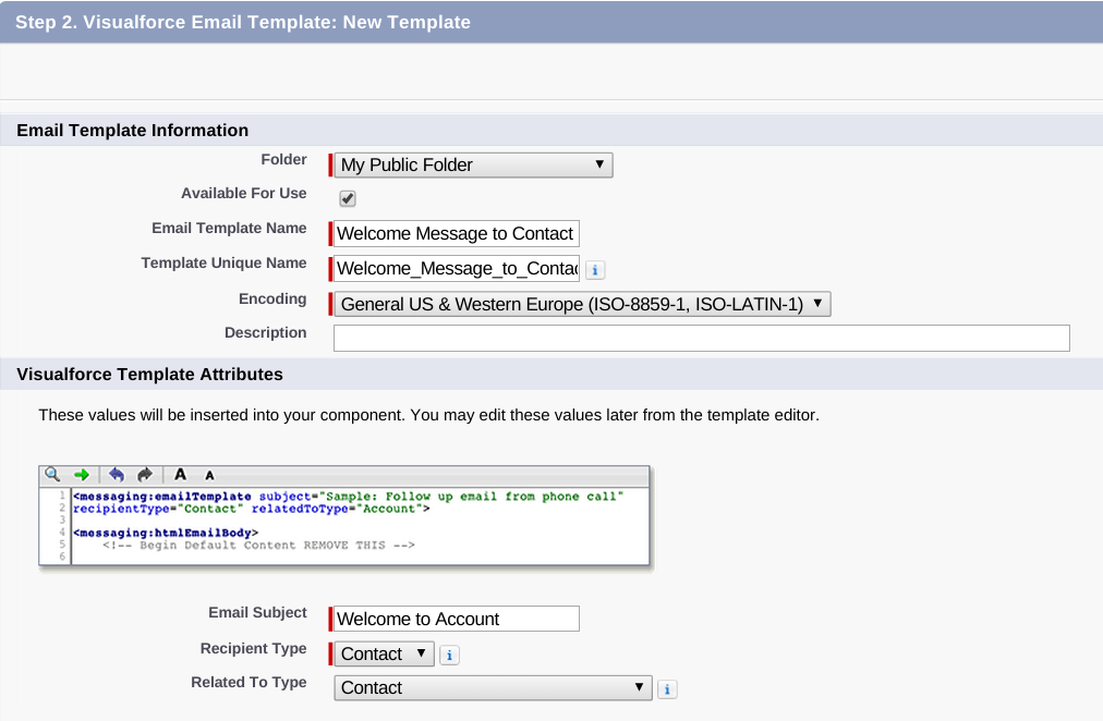 Creating Visualforce Email Templates