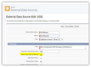 Writable External Objects - Salesforce Winter 16