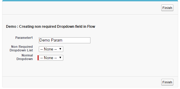 Salesforce flow Output