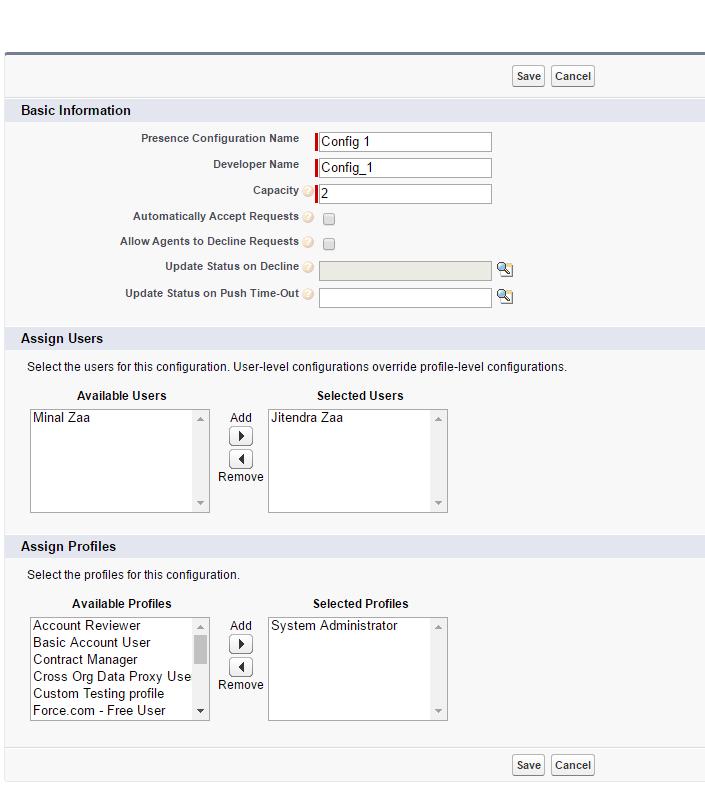 Omni Channel - Presence Configurations