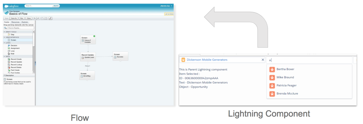 Embed Lightning Component in Flow