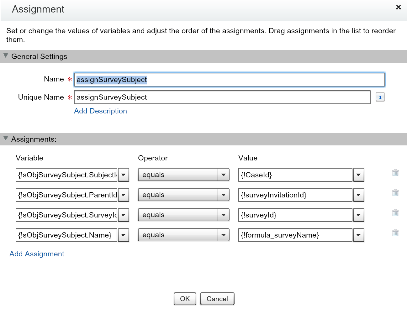 Salesforce Flow - Assignment for SurveySubject