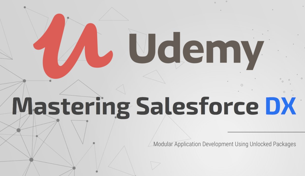 Salesforce DX on Udemy